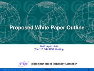 Proposed White Paper Outline