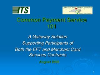Common Payment Service 101