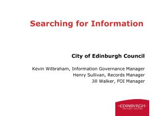 Searching for Information