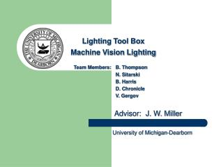 Lighting Tool Box  Machine Vision Lighting
