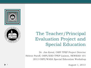 The Teacher/Principal Evaluation Project and Special Education