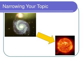 Narrowing Your Topic