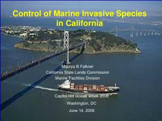 Control of Marine Invasive Species in California