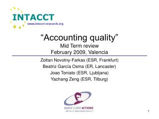 """Accounting quality"" Mid Term review February 2009, Valencia"