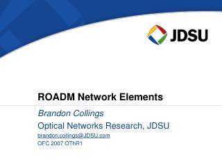 ROADM Network Elements