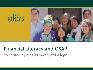 Financial Literacy and OSAP