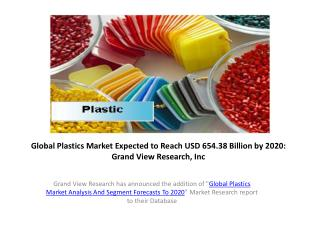 Plastics Market Size Report to 2020:Grand View Research,Inc