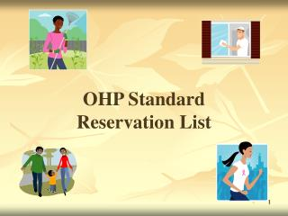 OHP Standard  Reservation List