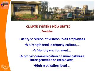 CLIMATE SYSTEMS INDIA LIMITED Provides…