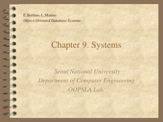 Chapter 9. Systems