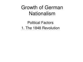 Growth of German Nationalism