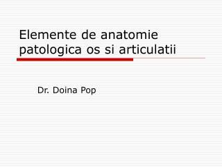 Elemente de anatomie patologica os si articulatii