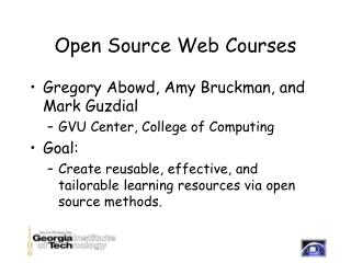 Open Source Web Courses