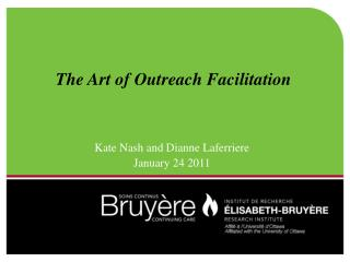 The Art of Outreach Facilitation
