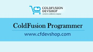 ColdFusion Programmer