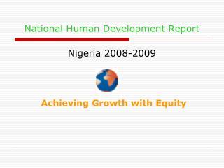 National Human Development Report Nigeria 2008-2009