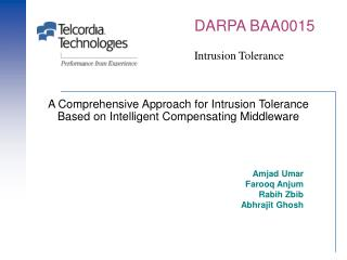 A Comprehensive Approach for Intrusion Tolerance Based on Intelligent Compensating Middleware
