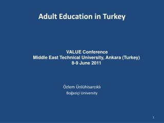 Adult Education in Turkey