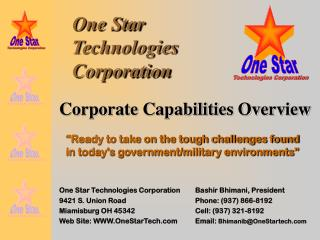 One Star Technologies Corporation