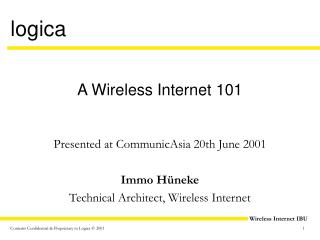A Wireless Internet 101