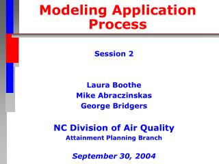 Modeling Application Process