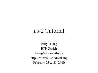 ns-2 Tutorial