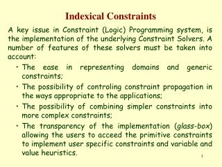 Indexical Constraints