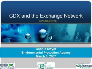 CDX and the Exchange Network