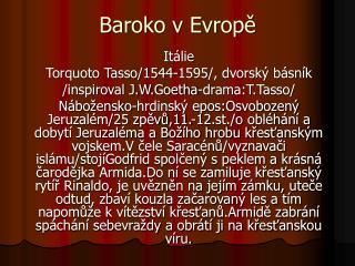 Baroko v Evropě