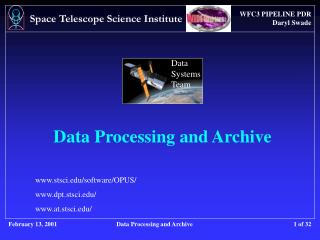 Data Processing and Archive