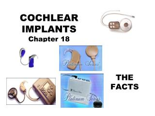 COCHLEAR IMPLANTS Chapter 18