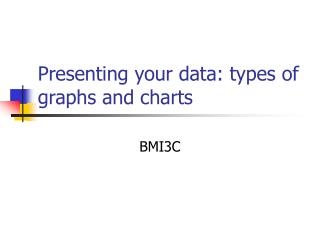 Presenting your data: types of graphs and charts