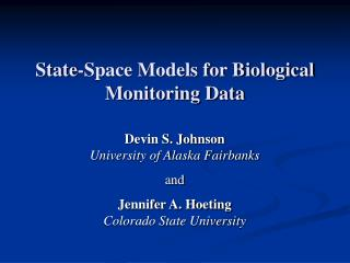 State-Space Models for Biological Monitoring Data