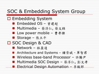 SOC & Embedding System Group
