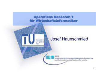Operations Research 1 für Wirtschaftsinformatiker