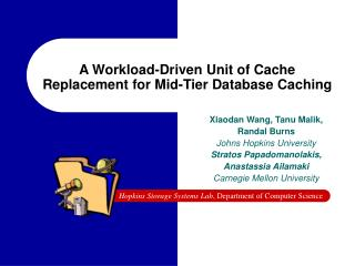 A Workload-Driven Unit of Cache Replacement for Mid-Tier Database Caching