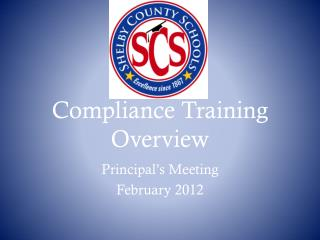 Compliance Training Overview