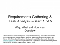 Requirements Gathering  Task Analysis   Part 1 of 5