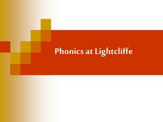 Phonics at Lightcliffe