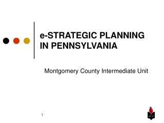 e-STRATEGIC PLANNING IN PENNSYLVANIA
