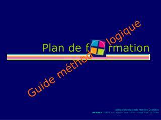Plan de f     rmation