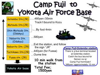 Camp Fuji  to  Yokota Air Force Base