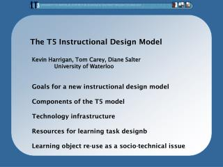 The T5 Instructional Design Model