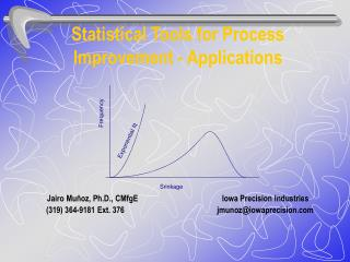 Statistical Tools for Process Improvement - Applications