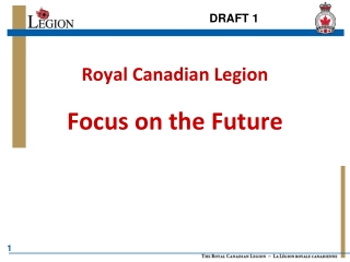 Royal Canadian Legion Focus on the Future