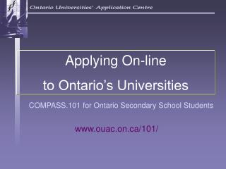 COMPASS.101 for Ontario Secondary School Students