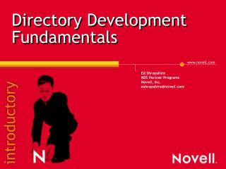 Directory Development Fundamentals