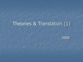 Theories & Translation (1)