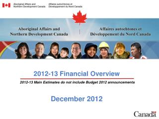 2012-13 Financial Overview December 2012