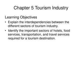 Chapter 5 Tourism Industry